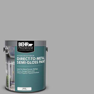 1 gal. #N520-3 Flannel Gray Semi-Gloss Direct to Metal Interior/Exterior Paint