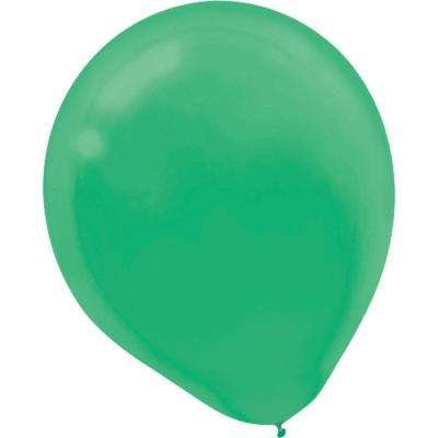 9 in. Festive Green Latex Balloons (20-Count, 18-Pack)