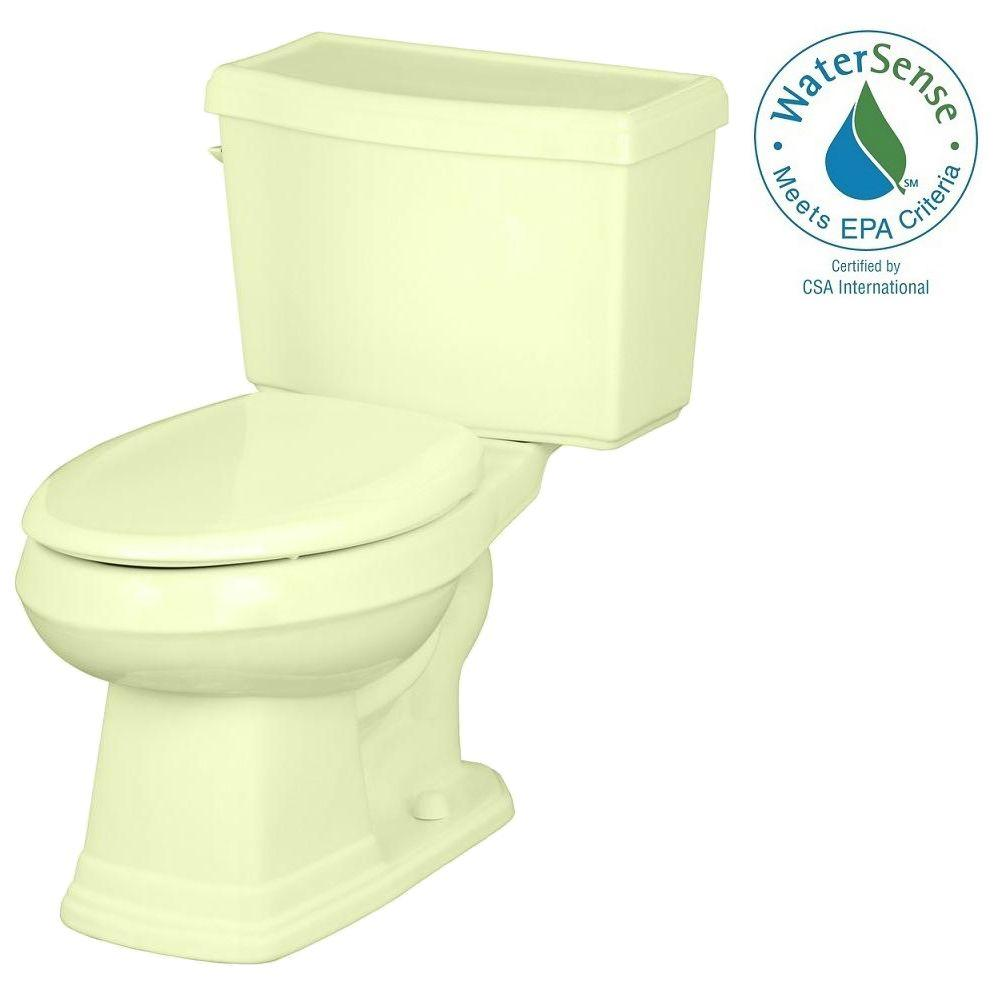 Gerber Allerton 2-Piece High Efficiency Elongated Toilet in Bone