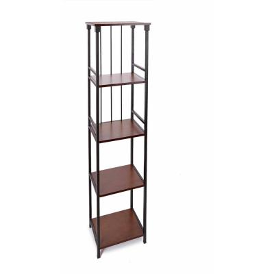 Mixed Material Bathroom 16 in. W 5-Tier Etagere in Oil Rubbed Bronze