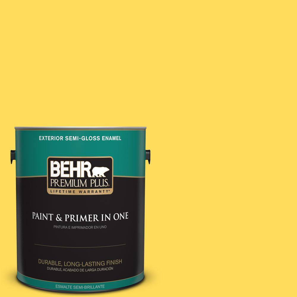 1-gal. #380B-5 Neon Light Semi-Gloss Enamel Exterior Paint