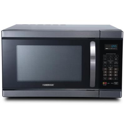 Black 1.1 Cu. Ft. Countertop Microwave in Black Stainless Steel with Smart Sensor and Inverter Technology