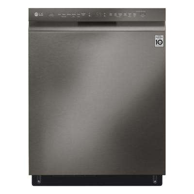 Front Control Tall Tub Smart Dishwasher with QuadWash, 3rd Rack and Wi-Fi Enable in Black Stainless Steel, 46 dBA