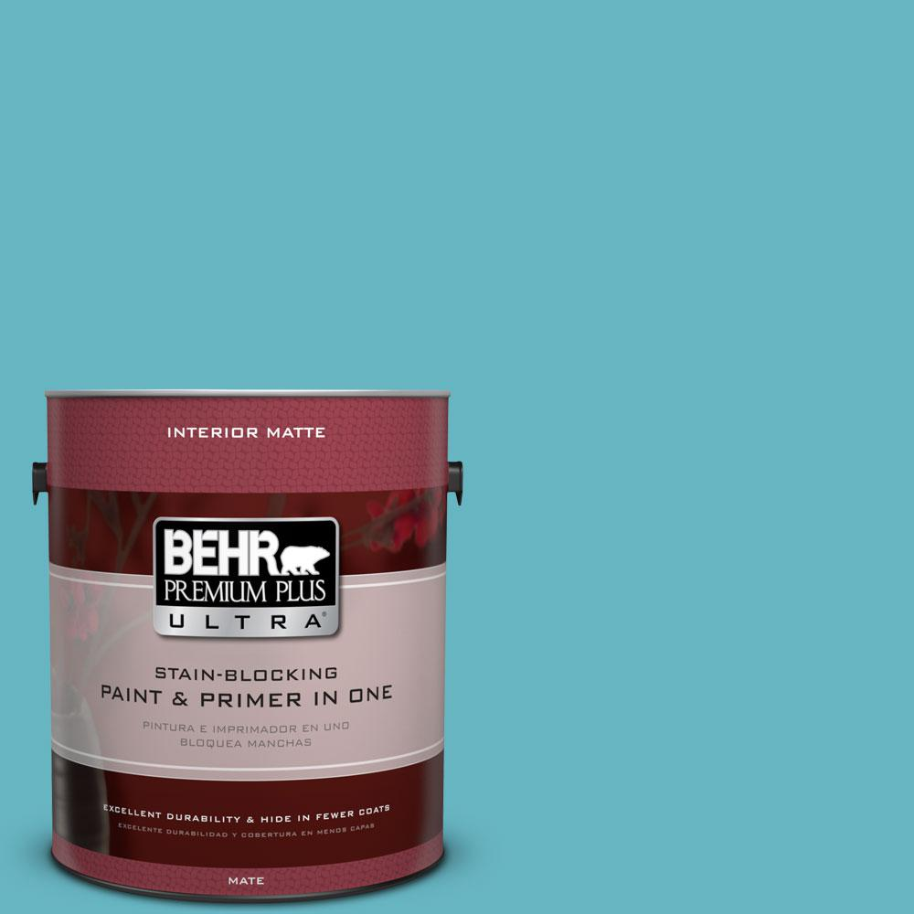 1 gal. #520D-5 Tropical Tide Matte Interior Paint and Primer in