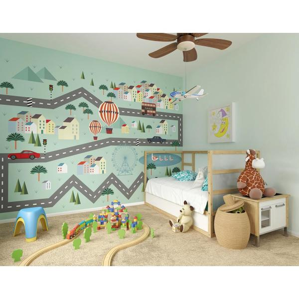 118 in. x 98 in. Mini Adventure Wall Mural