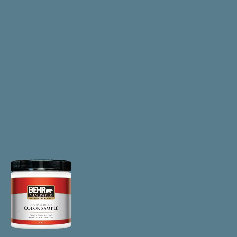 8 oz. #HDC-FL14-11 Cotton Denim Zero VOC Interior/Exterior Paint Sample