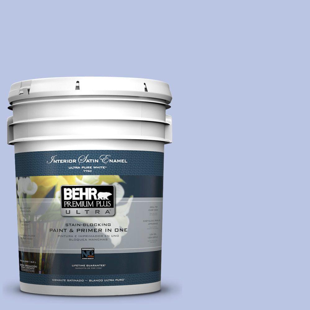 5-gal. #600A-3 California Lilac Satin Enamel Interior Paint