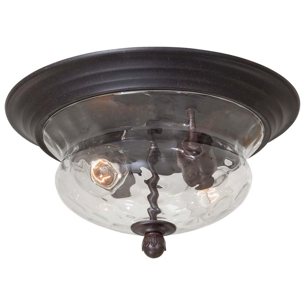 the great outdoors by Minka Lavery Merrimack 2-Light Corona Bronze Outdoor Flushmount