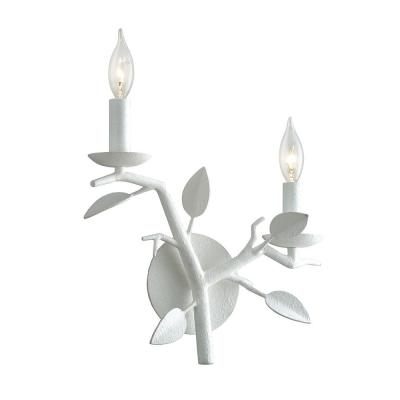 Aubrey Gesso White 2-Light Wall Sconce