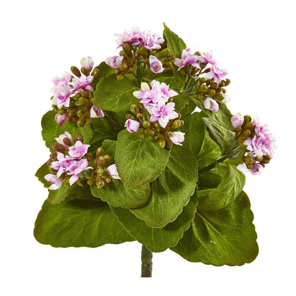8 in. Kalanchoe Artificial Bush Flower (Set of 6)