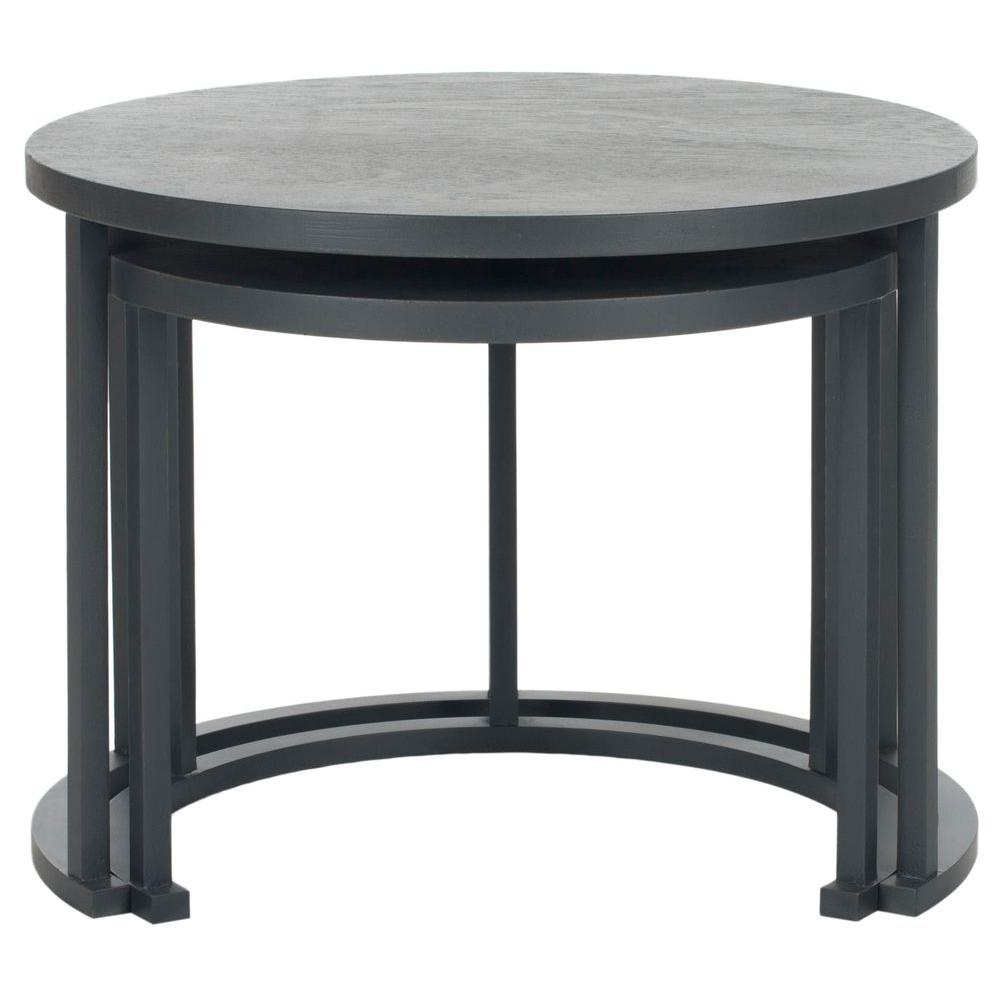 Safavieh Charcoal Grey Chindler Nesting Table