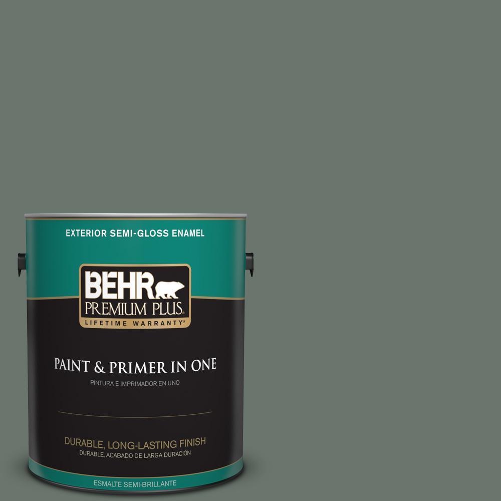 1 gal. #PPU12-18 Heritage Park Semi-Gloss Enamel Exterior Paint