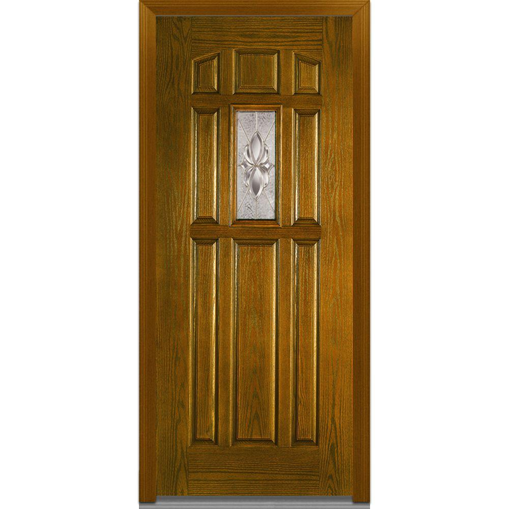 Mmi door 36 in x 80 in heirloom master right hand center for 8 lite exterior door