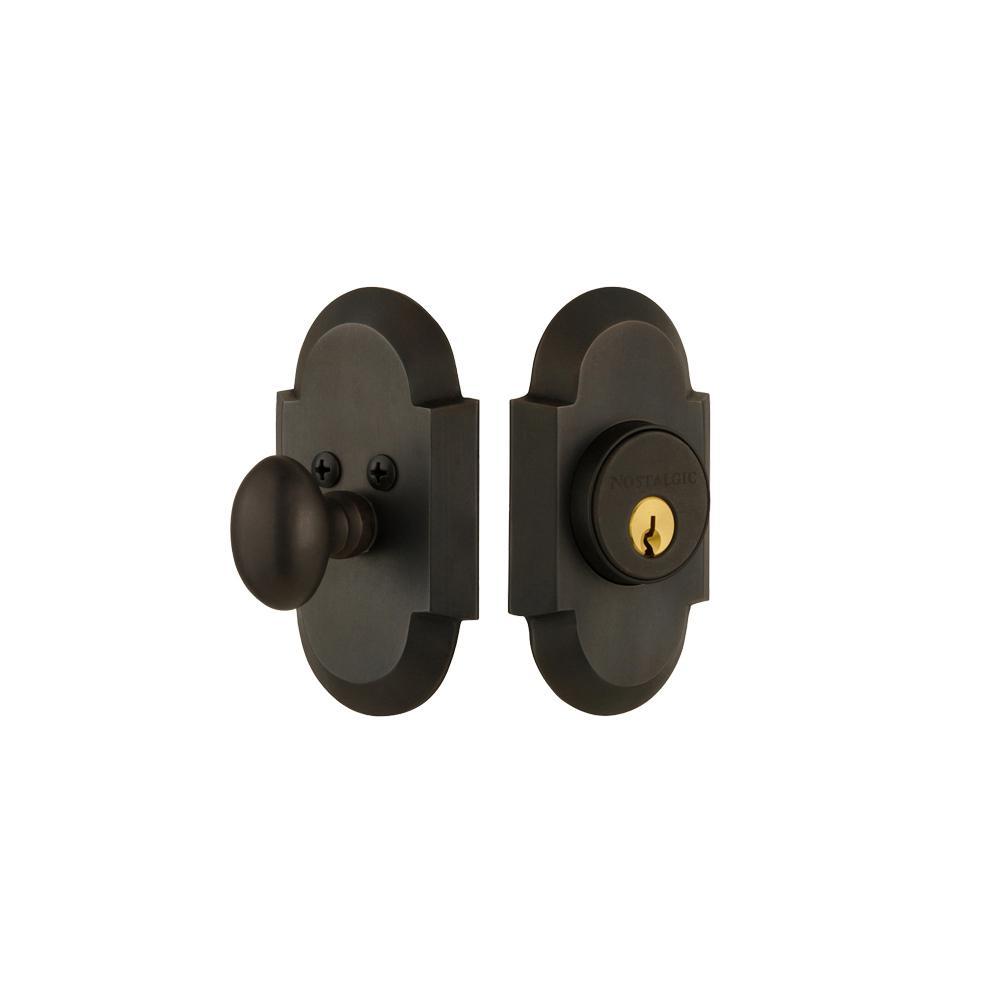 Cottage Plate 2-3/8 in. Backset Single Cylinder Deadbolt in Oil-Rubbed Bronze