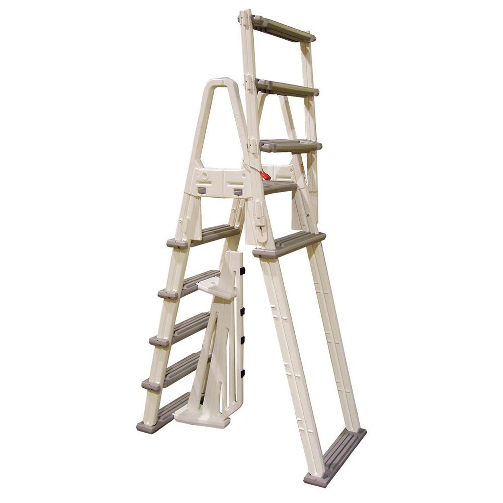Confer Plastics Evolution 16 in. A-Frame Ladder-7000X - The Home Depot