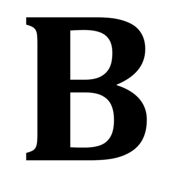 12 5 In Metal Letter B Wall Plaque 1865602270 The Home