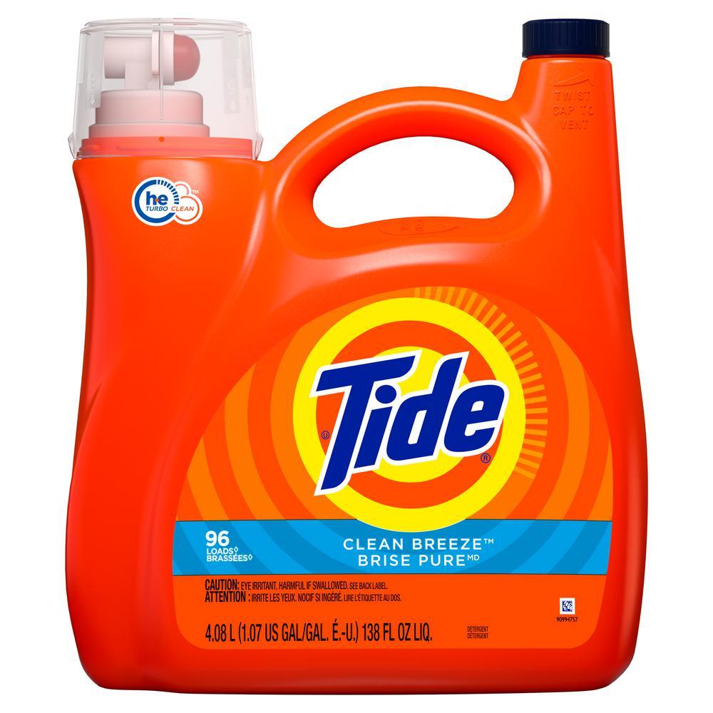138 oz. Clean Breeze Scent HE Liquid Laundry Detergent (96 -Loads)