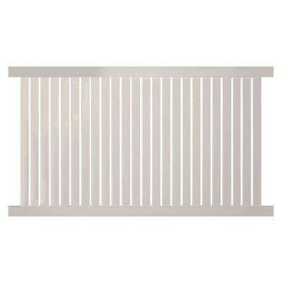 Hanover 4 ft. H x 6 ft. W Tan Vinyl Pool Fence Panel