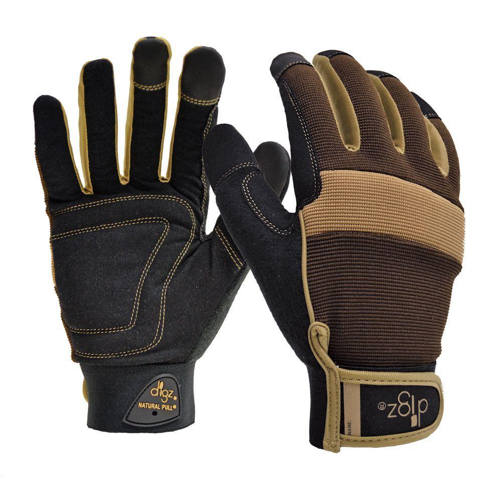 Digz Gardener's Men's Large Fabric Gloves
