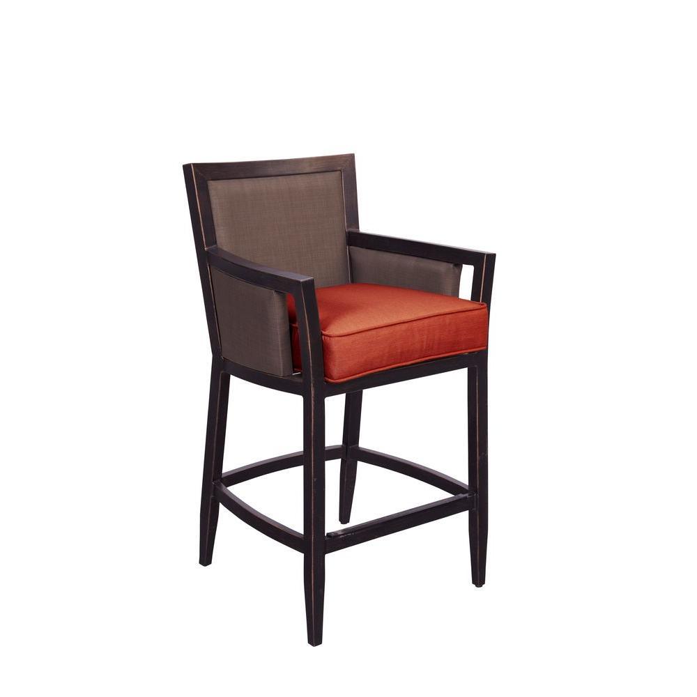 Greystone Patio High Dining Chair in Cinnabar (2-Pack) -- CUSTOM