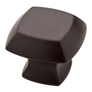 Mandara 1-1/4 in. (32mm) Cocoa Bronze Square Cabinet Knob
