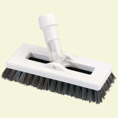 8 in. Swivel Scrub Brush, Handle Included (Case of 4)