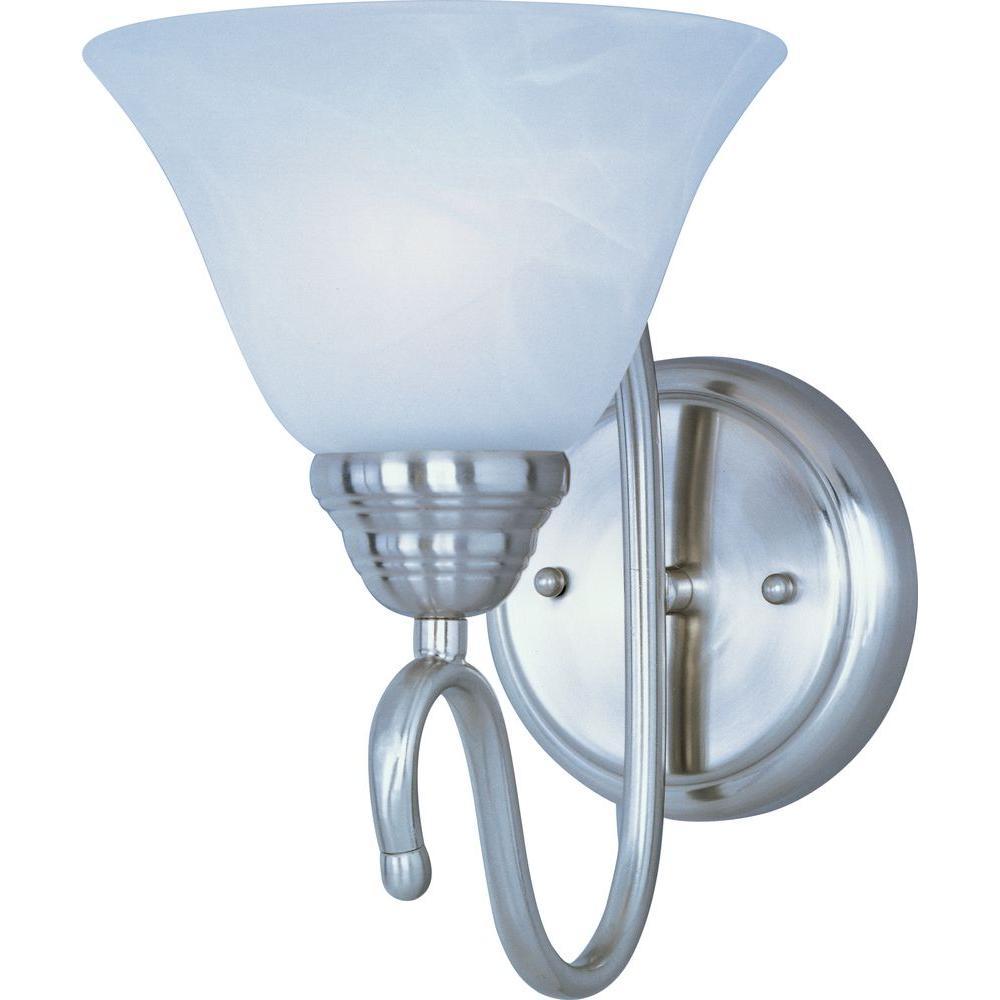 Newport 1-Light Satin Nickel Sconce