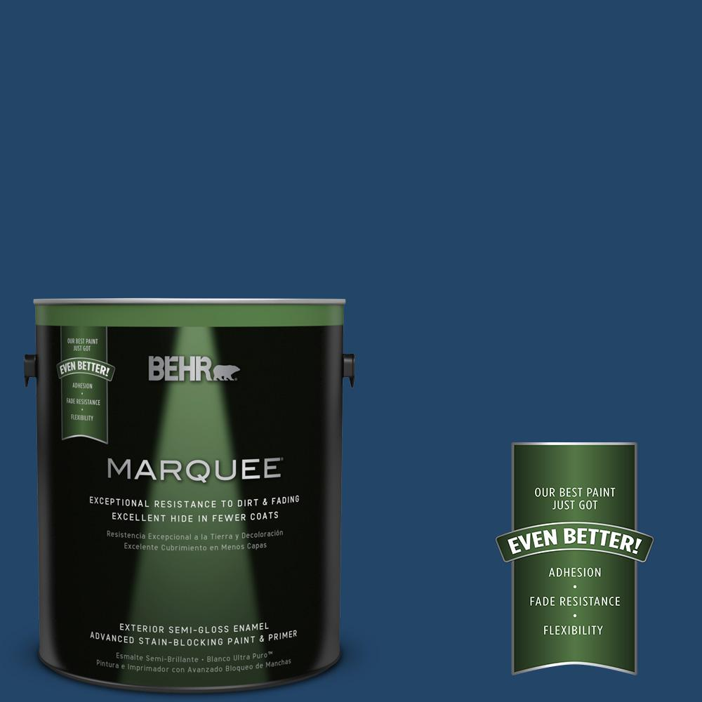 BEHR MARQUEE 1-gal. #PPF-57 Lake View Semi-Gloss Enamel Exterior Paint