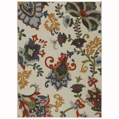 Woodbridge Salinas Multi 5 ft. x 8 ft. Area Rug