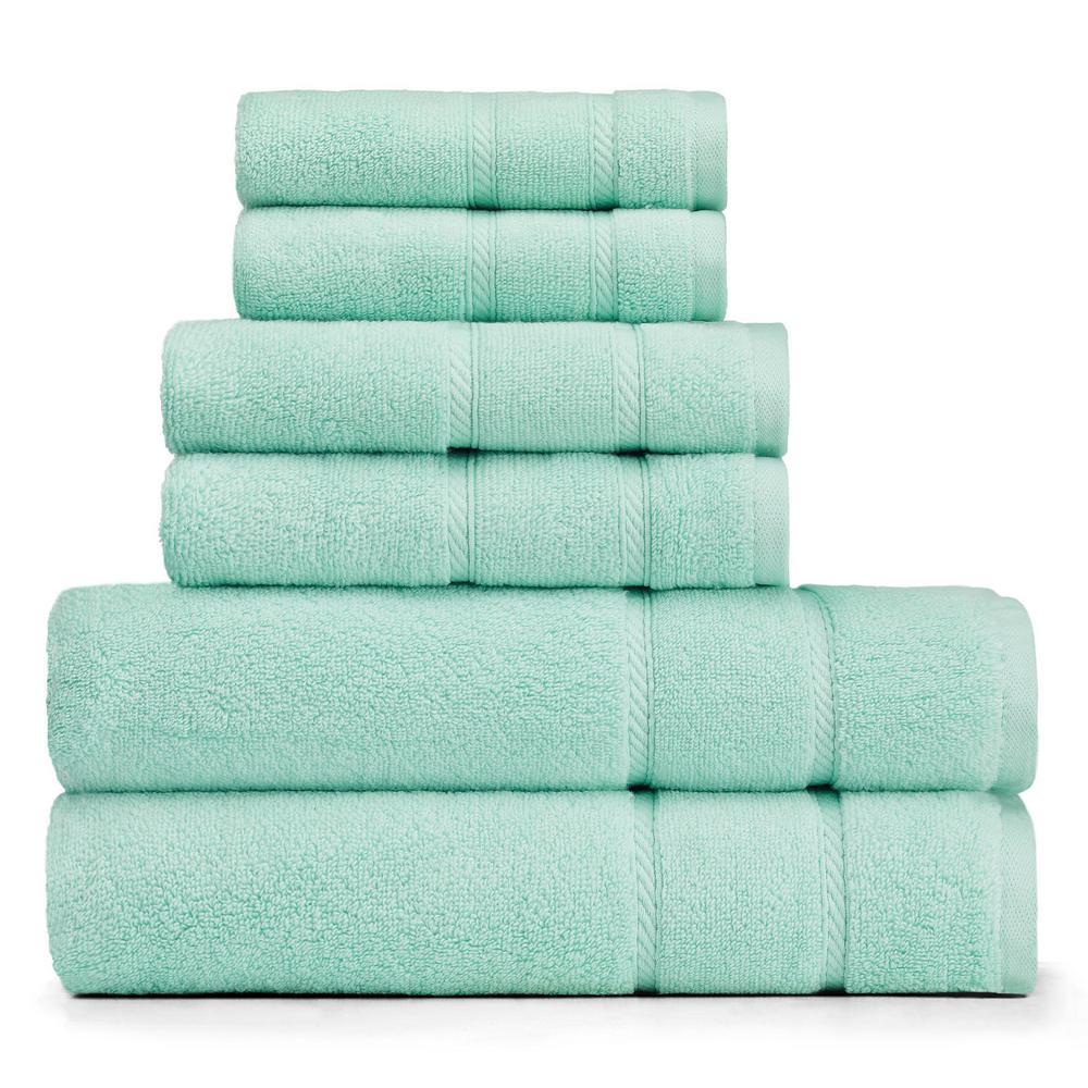 Nautica Belle Haven 6-Piece Pastel Towel Set in Green USHSAC1035513