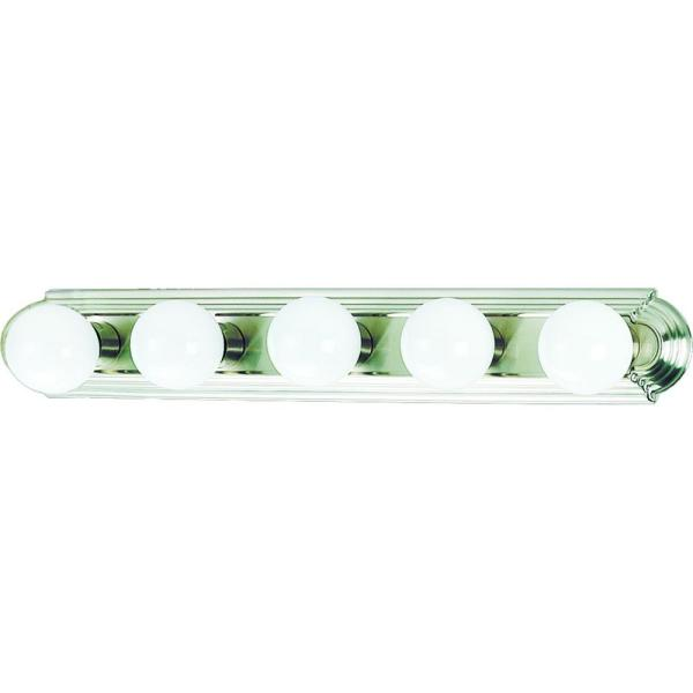 5-Light Brushed Nickel Bath or Vanity Light