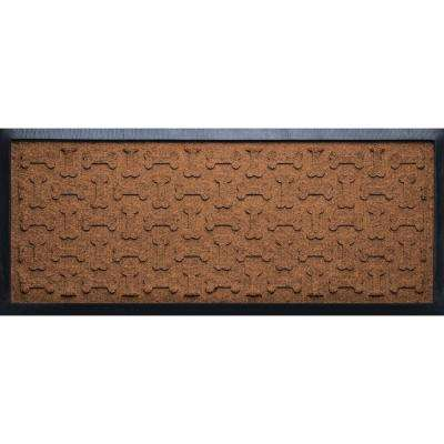 Dark Brown 15 in. x 36 in. x 1/2 in. Dog Treats Boot Tray