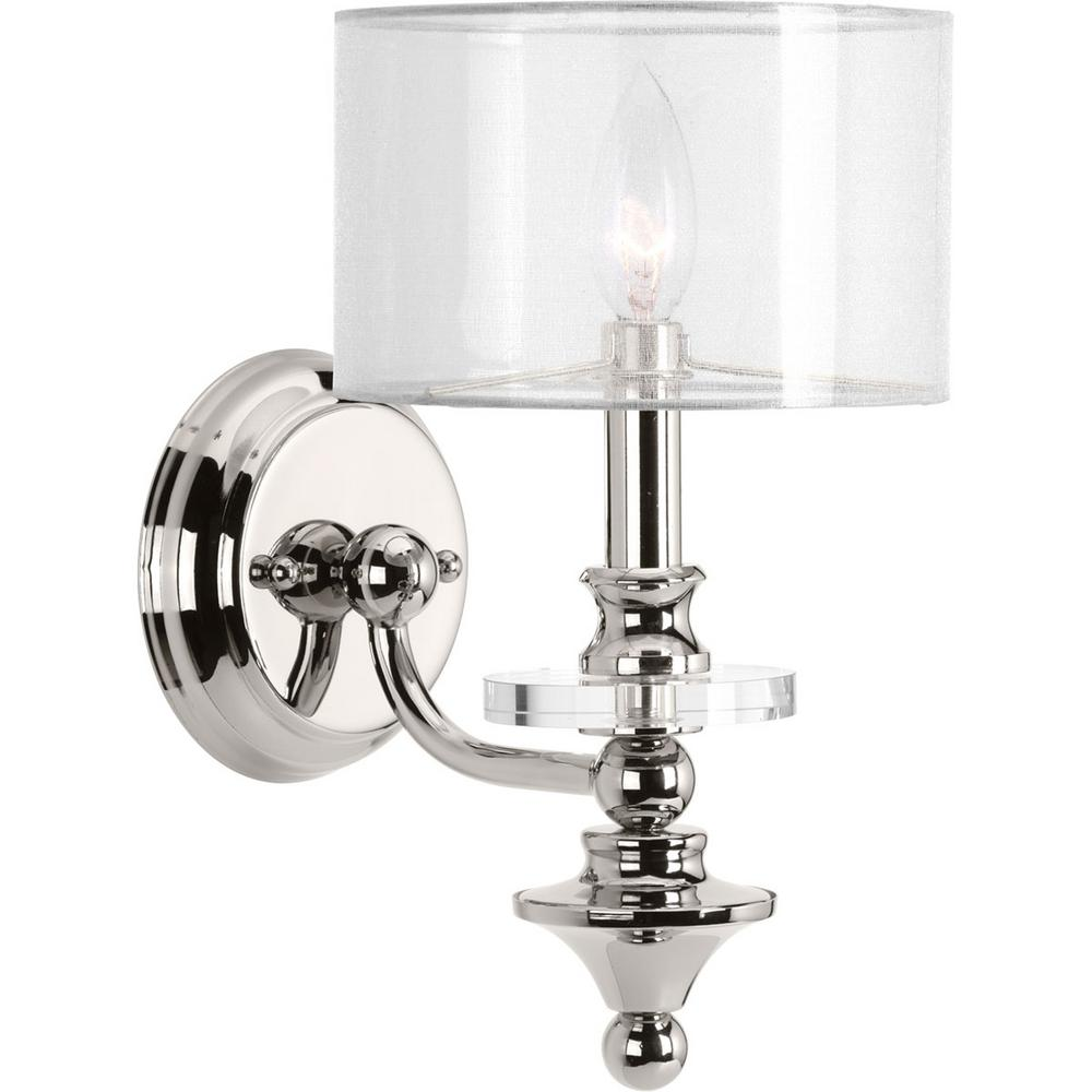 polished candle dp shades wall finish with amazon white lighting fabric com capital nickel sconce