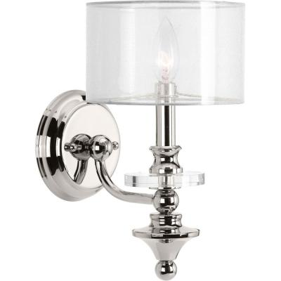 March Collection 1-Light Polished Nickel Wall Sconce