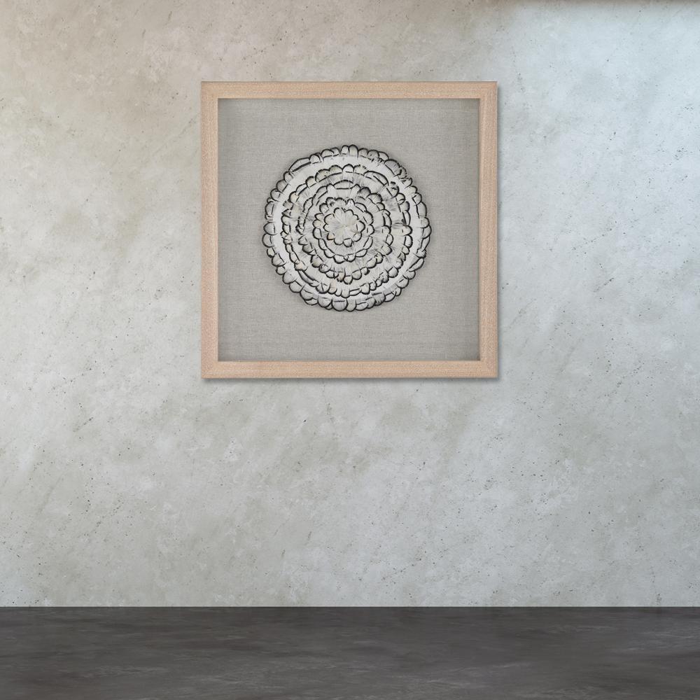 "16 in. x 16 in. ""Feather Swirl"" Wall Art"