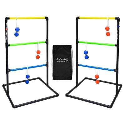 Indoor/Outdoor Ladder Toss Game Set with 6 Rubber Bolos, Portable Carrying Case and Score Trackers