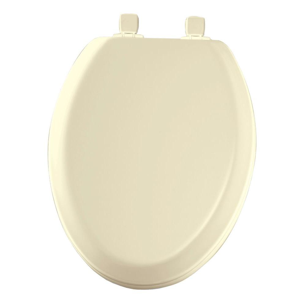Lift-Off Never Loosens Elongated Closed Front Toilet Seat in Bone