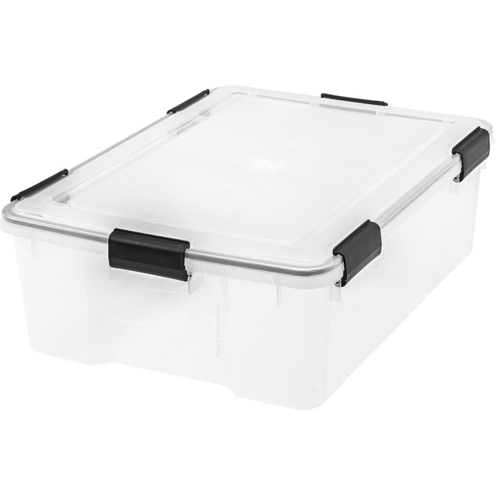 Awesome IRIS 41 Qt. Weathertight Storage Box In Clear