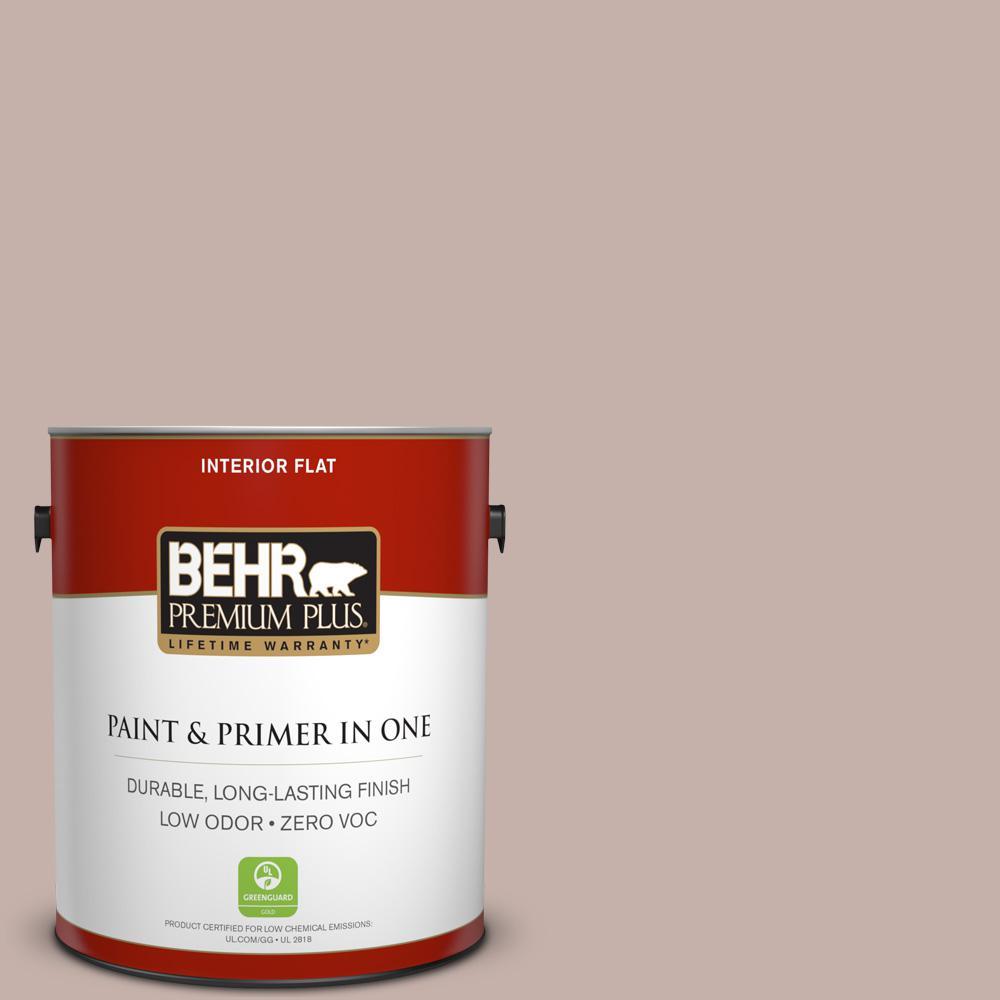 1 gal. #PPU17-10 Mauvette Zero VOC Flat Interior Paint