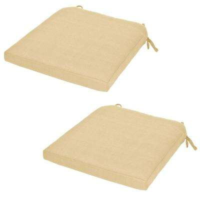 Charlottetown CushionGuard Oatmeal Replacement Outdoor Dining Chair Cushion (2-Pack)