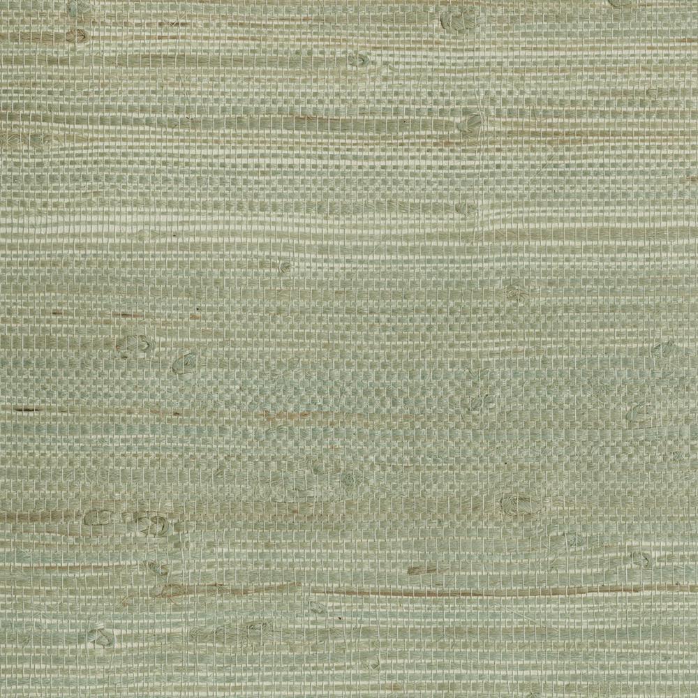 Myogen Golden Green Grasscloth Golden Green Wallpaper Sample