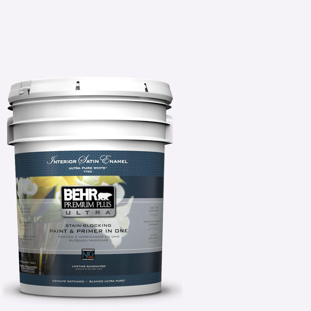 BEHR Premium Plus Ultra 5-gal. #W-D-600 Bridal Veil Satin Enamel Interior Paint