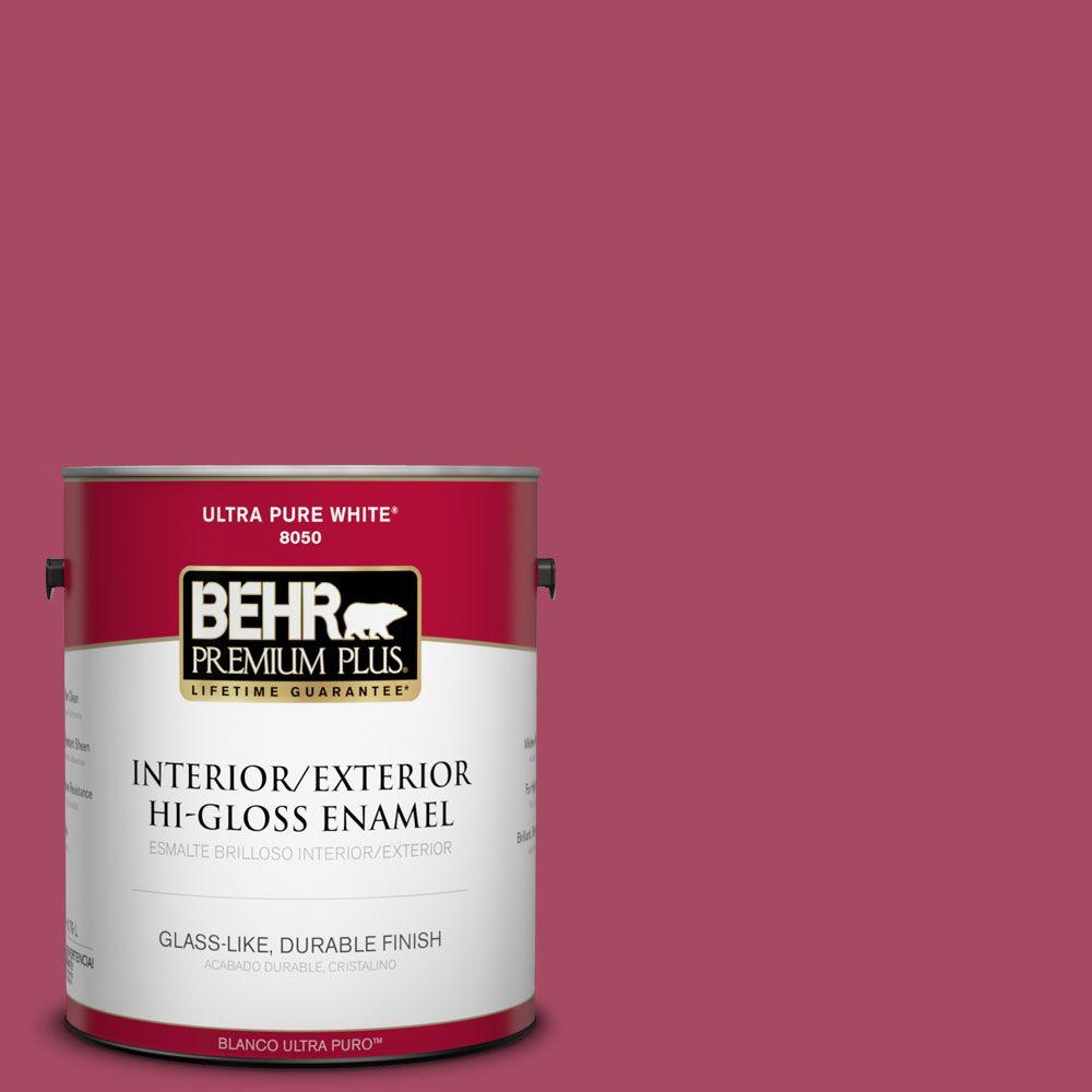 1-gal. #120D-5 Glazed Raspberry Hi-Gloss Enamel Interior/Exterior Paint