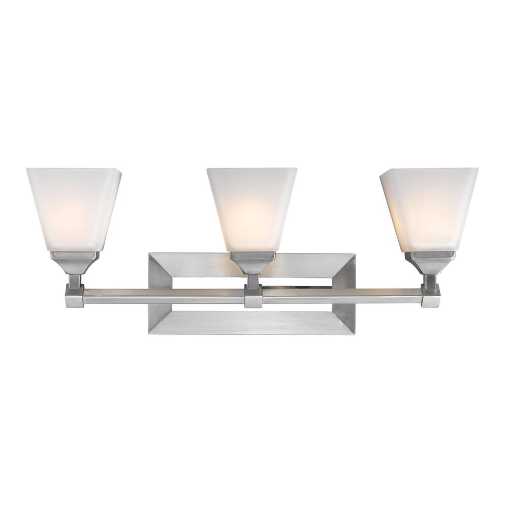 Gentry 3-Light Pewter Bath Light