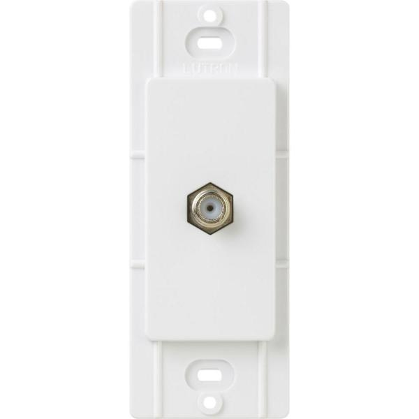 Claro Coaxial Cable Jack, White