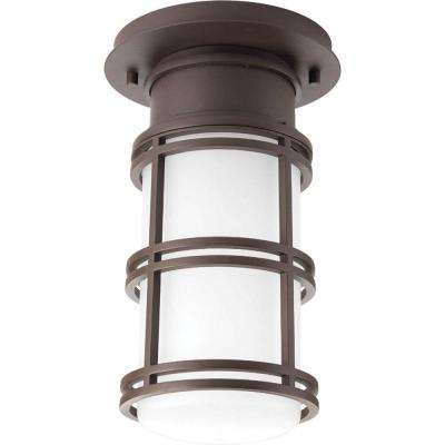 Coastalnautical outdoor ceiling lighting outdoor lighting the bell collection 1 light antique bronze led outdoor flushmount aloadofball Images