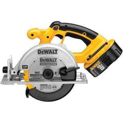 18-Volt NiCd Cordless 6-1/2 in. Circular Saw Kit with Battery 2.4Ah, 1-Hour Charger and Case