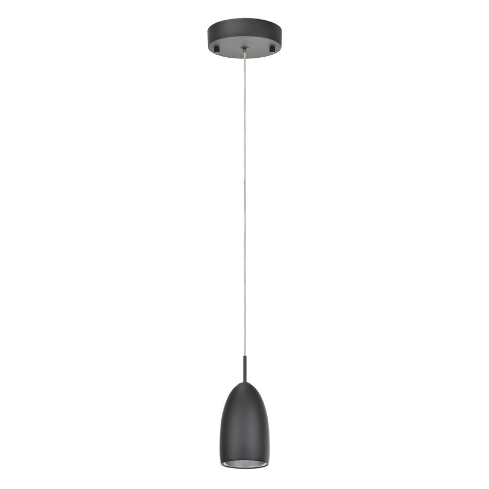 Aspen Creative Corporation 1-Light Black Integrated LED Mini Pendant with  Metal Shade