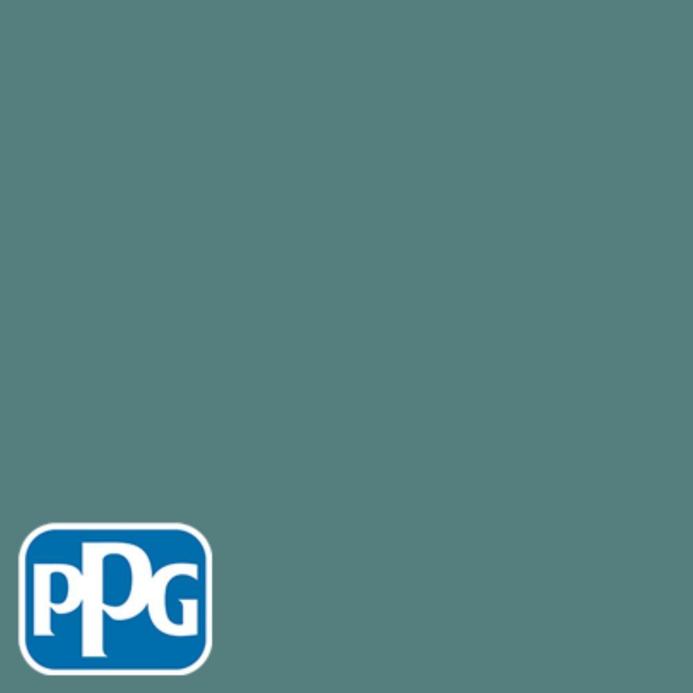 PPG TIMELESS 8 oz. #HDPPGB26U Deep Ocean Teal Satin Interior/Exterior Paint Sample