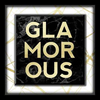 Glamorous-White And Gold 10 in. x 10 in. Shadowbox Wall Art